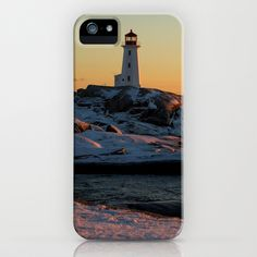 Peggys Cove at Sunset iPhone Case by Dustin Hall - $35.00