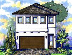 Narrow Lot Mediterranean House Plan - 42823MJ   2nd Floor Master Suite, CAD Available, Den-Office-Library-Study, Florida, Jack & Jill Bath, Loft, Mediterranean, Narrow Lot, PDF   Architectural Designs