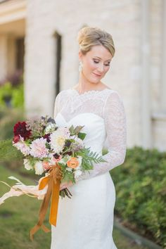 Southern Romance Wedding - Ivory, Gold, Blush, Emerald, Red Wedding - Bridal Bouquet - Bridal Portrait - Beautiful Bride