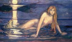 """Mermaid"" by Edvard Munch, 1896, Made in Paris, Oil on canvas. (detail)"