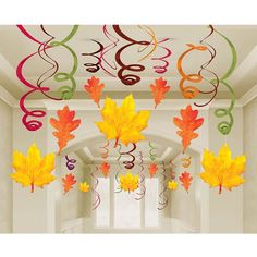 Mega Value Pack Fall Leaf Danglers Make a spiral & attach a watercolor leaf!