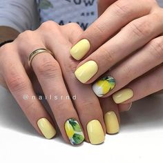 Looking for some pretty nail acrylic art designs? If you want to find a new look in this season, then try some acrylic nails. Acrylic nails ar… in 202 Manicure Nail Designs, Acrylic Nail Designs, Nail Manicure, Nail Art Designs, Nail Polish, Yellow Nails Design, Yellow Nail Art, Shellac Nails, Red Nails