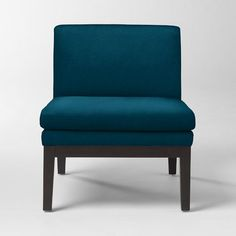 love this blue!! Upholstered Slipper Chair | west elm