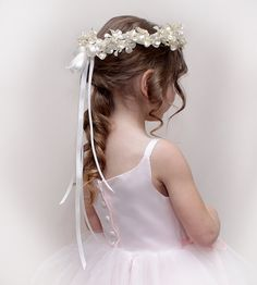 flower girl hair minus headpiece with  homemade flower clip?
