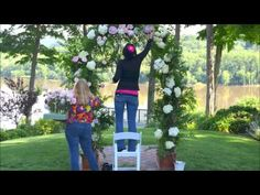 Designing A Wedding Arch With Flowers - YouTube