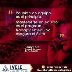 A Henry Ford se le conoce por haber sido el fundador de la compañía de automóviles #ford  pero sus innovaciones en el sistema de producción en serie hizo que se abarataran los costos  al hacer mas unidades en menos tiempo gracias a la innovación de LINEAS DE PRODUCCIÓN. Ahora concentremosno en sus pensamientos para que vean la importancia que le daban al trabajo en equipo y al valor de la unidad... El es un modelo de un LÍDER INTEGRAL #IveleForjaLideresIntegrales #lider #henry #ford #equipo…