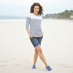Breton Stripe Maternity Top, Maternity Tops, Maternity Clothes