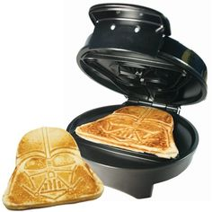 This Star Wars Darth Vader Waffle Maker will be a welcome addition for any Star Wars fan's kitchen or dorm room. Making it ideal for Star Wars fans that love to make delicious and tasty waffles in the shape of Darth Vader!<br /><br /> With its weight Darth Vader Star Wars, Darth Maul, Decoration Star Wars, Star Wars Decor, Cocina Star Wars, Cadeau Star Wars, Star Wars Dark, Star Wars Kitchen, Star Wars Ring