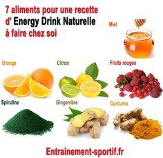 L'energy drink d'Entrainement-sportif.fr est une boisson énergisante naturelle à faire chez soi dépourvue des dangers des stimulants présents dans les boissons vendues dans le commerce