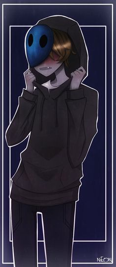 """((Rp? Romance, be EJ)) I had woken up to my window opening. I lived alone so I sat up in panic, but was greeted with a cold finger to my lips. """"Shh!"""" I heard a voice say. I saw a dark blue mask in the dim light, """"W-Who are you?"""" I asked. He pulled up his mask slightly to reveal his sharp teeth, """"I'm Eyeless Jack but you can call me EJ or Jack for short."""" He was blushing and I smiled, """"I'm Aria."""" He smiled and sat on my bed"""