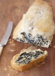 annabel langbein - silverbeet, feta and pinenut roll