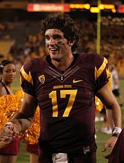 Brock Osweiler attended Arizona State University. As a true freshman in 2009, Osweiler played in six games with one start. He became the first true freshman to start a game for the Sun Devils since Jake Plummer in 1993.