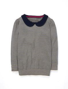 Stripe Collar Sweater WV015 Sweaters at Boden