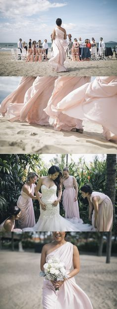 Gorgeous bridal style for A gorgeous Peachy summer wedding Summer Wedding, Our Wedding, Destination Wedding, Hoi An, We Can Do It, Bridesmaid Dresses, Wedding Dresses, Bridal Style, Big Day