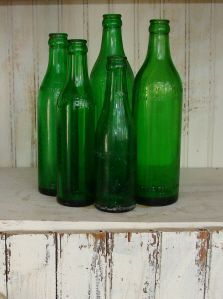 Green Bottles and Jars