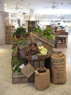 Supermarket Design | Produce Areas | Retail Design | Shop Interiors | Elizabeth Minchilli in Rome: latest post from the atlantic: an organic lunch in london by margery