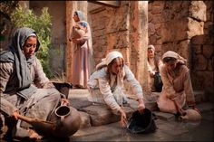 Mary and women of Nazareth from the LDS Church's Bible Video series.