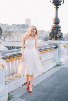 white gold lace dress