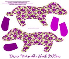 Doxie Warmable Pillow or Plushie fabric by kdl on Spoonflower - custom fabric