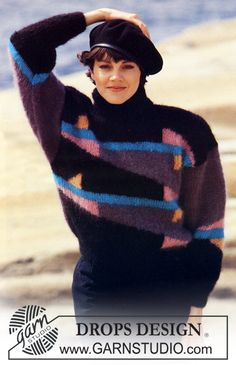 """DROPS jumper with pattern in """"Vienna"""". Size M. - Free pattern by DROPS Design"""
