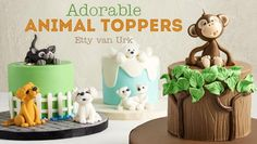 Create delightful animal cake toppers sure to charm even your littlest guests.