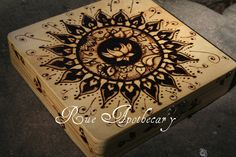 Lotus Pyrography by DevenRue