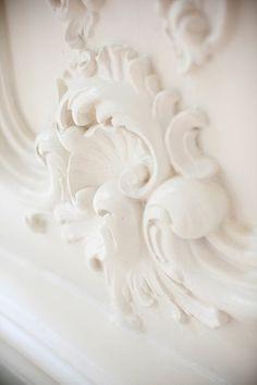white plaster molding