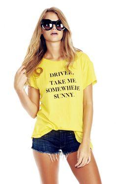 Wildfox Couture Take Me Somewhere Sunny Hippie Crewneck Tee