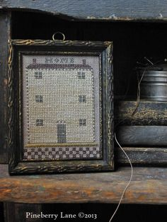 Home - A Diminutive Sampler PATTERN.........so simple but I love it