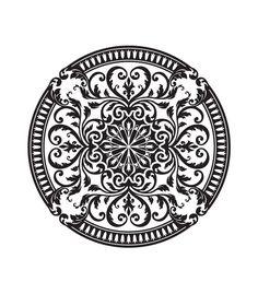 tattoo - mandala - art - design - line - henna - hand - back - sketch - doodle - girl - tat - tats - ink - inked - buddha - spirit - rose - symetric - etnic - inspired - design - sketch Stencil Patterns, Stencil Designs, Pattern Art, Pattern Design, Stencils, Stencil Art, Glazes For Pottery, Diy Arts And Crafts, Ceramic Painting