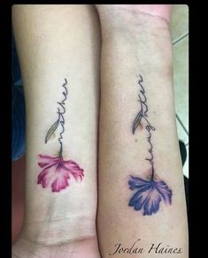 Mother daughter tattoos design ideas 31