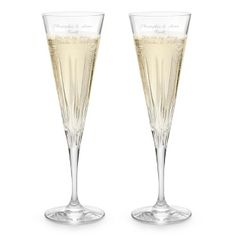 Engraved Vera Wang by Wedgewood® Peplum Toasting Flutes , Add Your Personalized Message