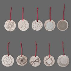 Set of 10 Assorted Hand Painted Ornaments | Mill Mercantile