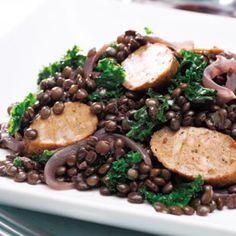 Kale, Sausage & Lentil Skillet Supper ( replace sausage w/ chicken ...
