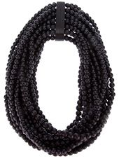 Black wood necklace from Monies featuring multiple rows of black beads Monies Jewelry, Beaded Jewelry, Beaded Necklace, Jewellery, Bib Necklaces, Chunky Necklaces, Statement Necklaces, Neck Bones, Women Jewelry