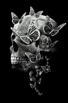 Skull Butterflys