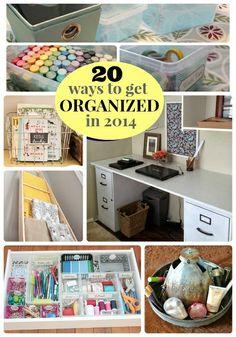 20 Great Ways to *Still* Get Organized in 2014!!