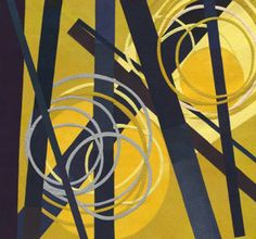 "Judy Kirpich, Circles No. 6, 57 x 61"".  Love her work."