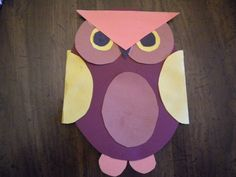 whoo-whoo - owl made from construction paper