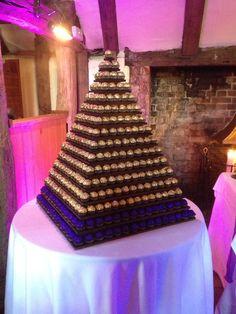 Ferrero tower with Cadbury purple accents