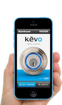 Kevo | Smart Phone Mobile App Lock - Keyless Entry http://www.kwikset.com/kevo/default.aspx#.UyCiBPmwJ3o