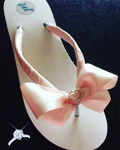 A personal favorite from my Etsy shop https://www.etsy.com/listing/257757004/bridal-flip-flopswedges-wedding-flip