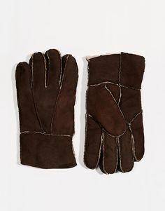 Handschuhe von ASOS Obermaterial aus weichem Wildleder Futter in Lammfelloptik Mit feuchtem Tuch abwischen. 100% echtes Leder