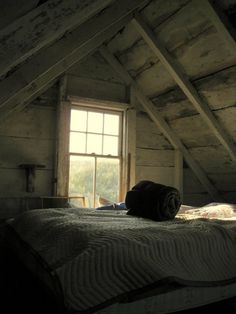 Cottage attic bedroom