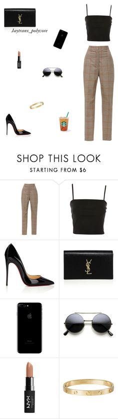"""Untitled #321"" by jaytranx on Polyvore featuring Zimmermann, Topshop, Christian Louboutin, Yves Saint Laurent, NYX and Cartier"