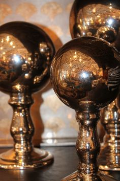 Mercury glass decorative accessories for a quick style fix.