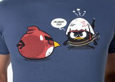 """""""Anger Cast"""" de Dr. Lupo - Consíguela en http://www.pampling.com/ficha_producto.php?id_producto=489 #tee #tshirt #fashion #cool #pampling #design #creative #angryBirds #calimero #dailytee #Camisetas"""