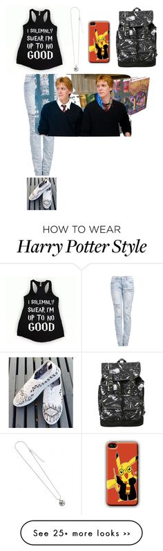 """Complete Harry Potter Outfit"" by alli3cat on Polyvore featuring Vans"