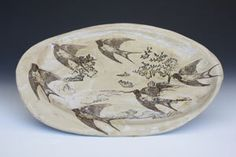 Platter with Sparrows.
