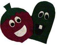 Kids' Crafts: VeggieTales Puppets - Games and Toys, Rainy Day Crafts - Kaboose.com